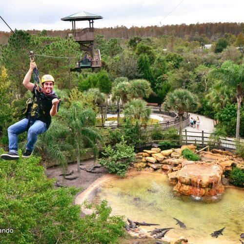 Gatorland - Orlando - Florida - zip line