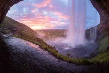 solo travel destination_iceland_waterfalls_sunset