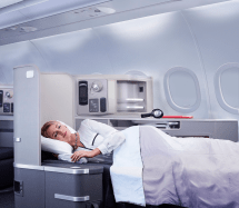 American Airlines First Class Beds