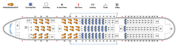 Seat Map United S Boeing 787 Dreamliner