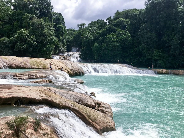 Agua Azul au Mexique dans l'état des Chiapas
