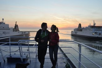 Couple, Sailing, DFDS