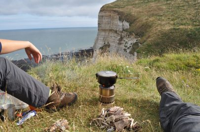 Woodgas stove, Normandy, Cliffs