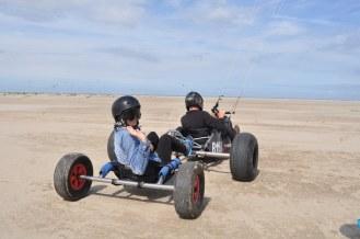 Tandem, Kite buggy, take off