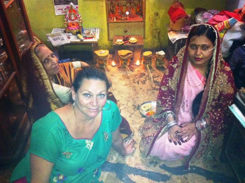 Amy at home in Varanasi