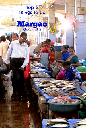 fish market graphic - Margao, Goa. India