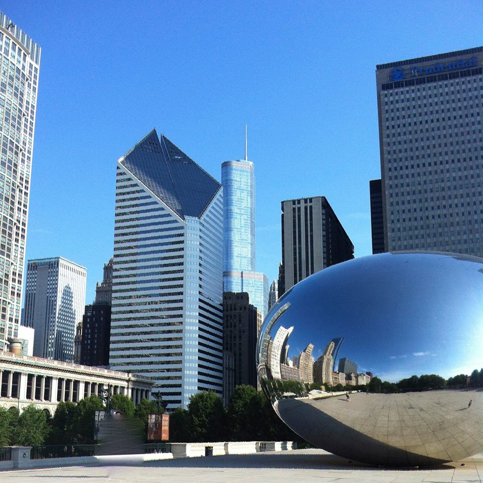 Chicago-Millennial Park and Chicago with The Bean