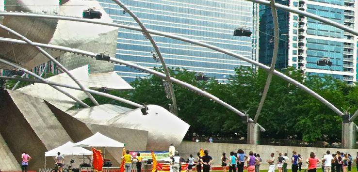 Millennial Park-Chicago-Pritzker Pavilion