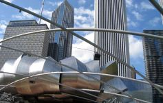 Millennial Park-Pritzker Pavilion by Frank Gehry