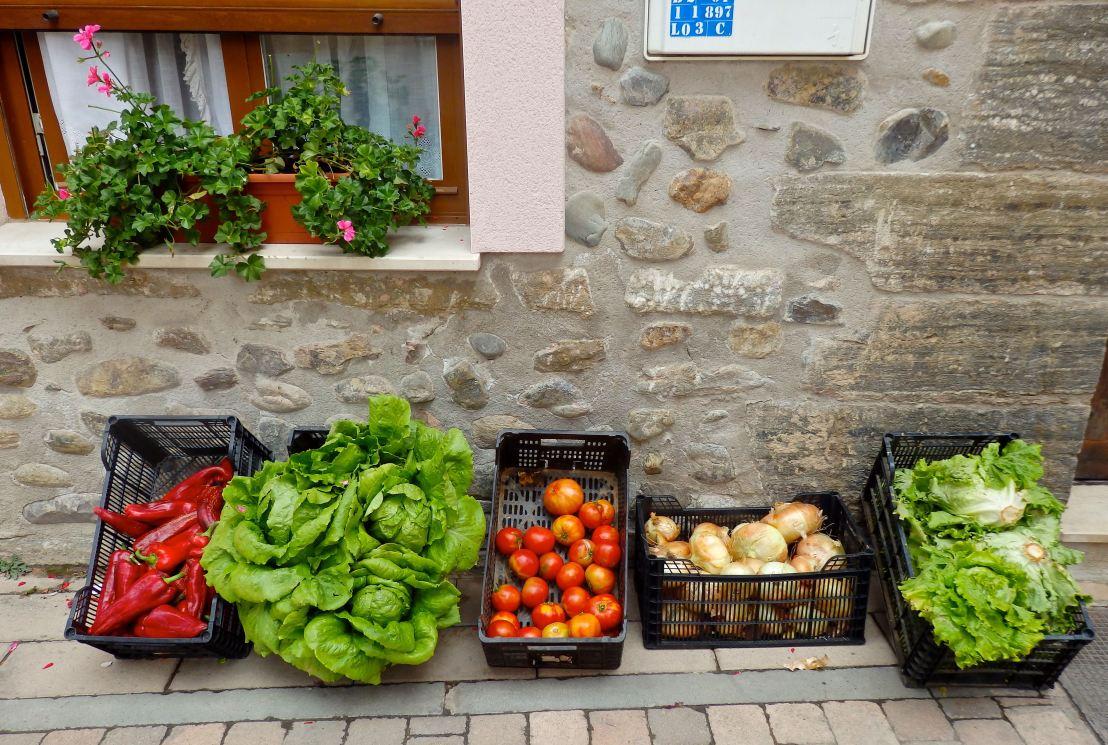Markets-Spain-Produce outside a home