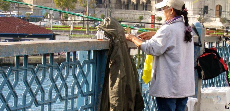 People of Istanbul-Woman fishing