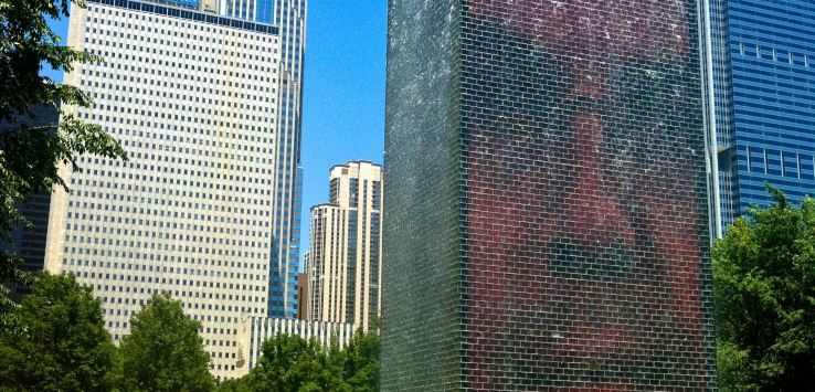 Millennial Park-Crown Fountain