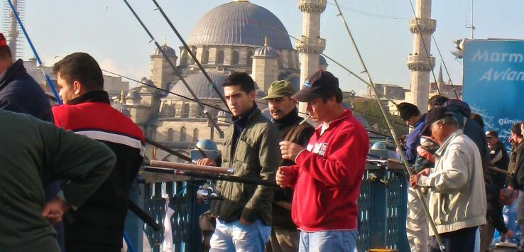People of Istanbul-Fishing from Galata Bridge