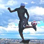 Street performers-Paris-Soccer Guy