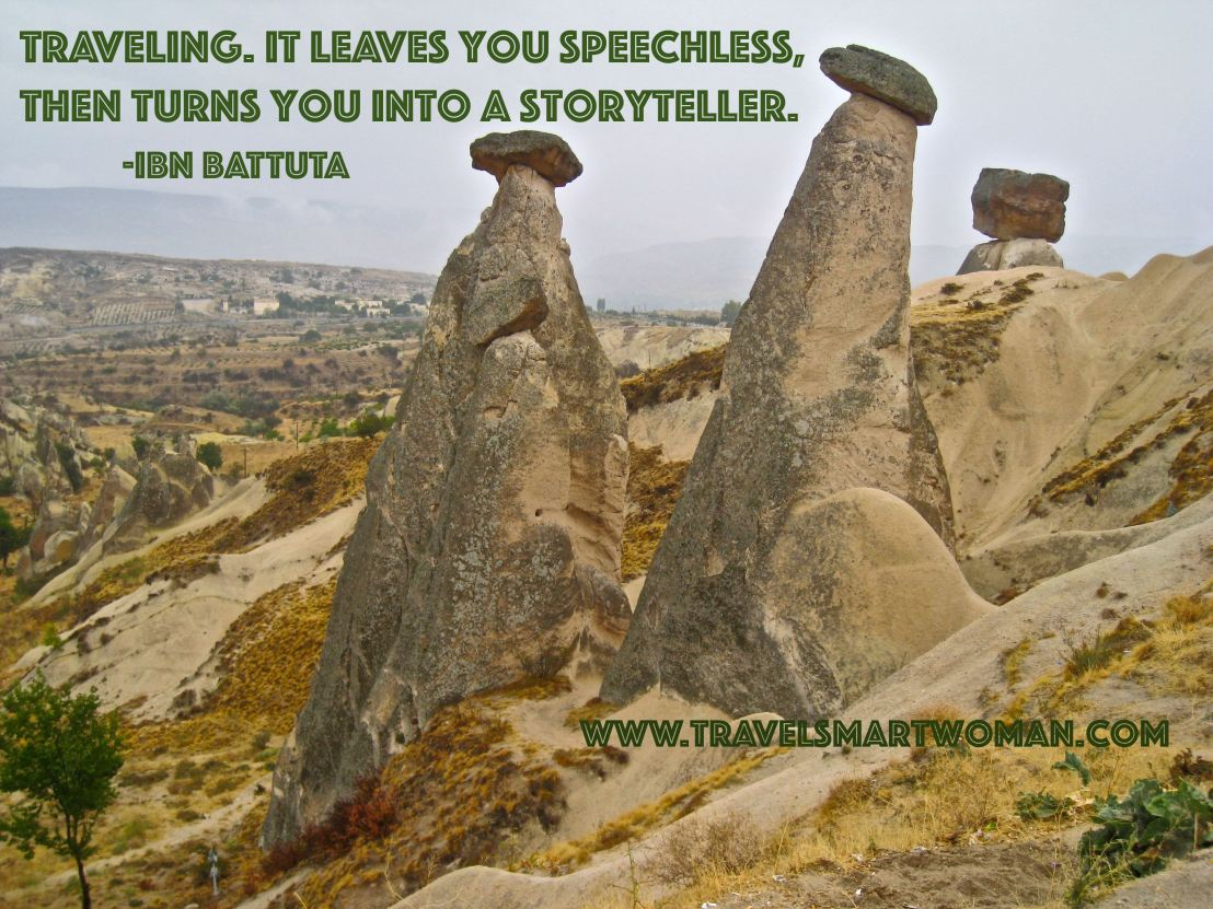 Quote: Traveling leaves you speechless...