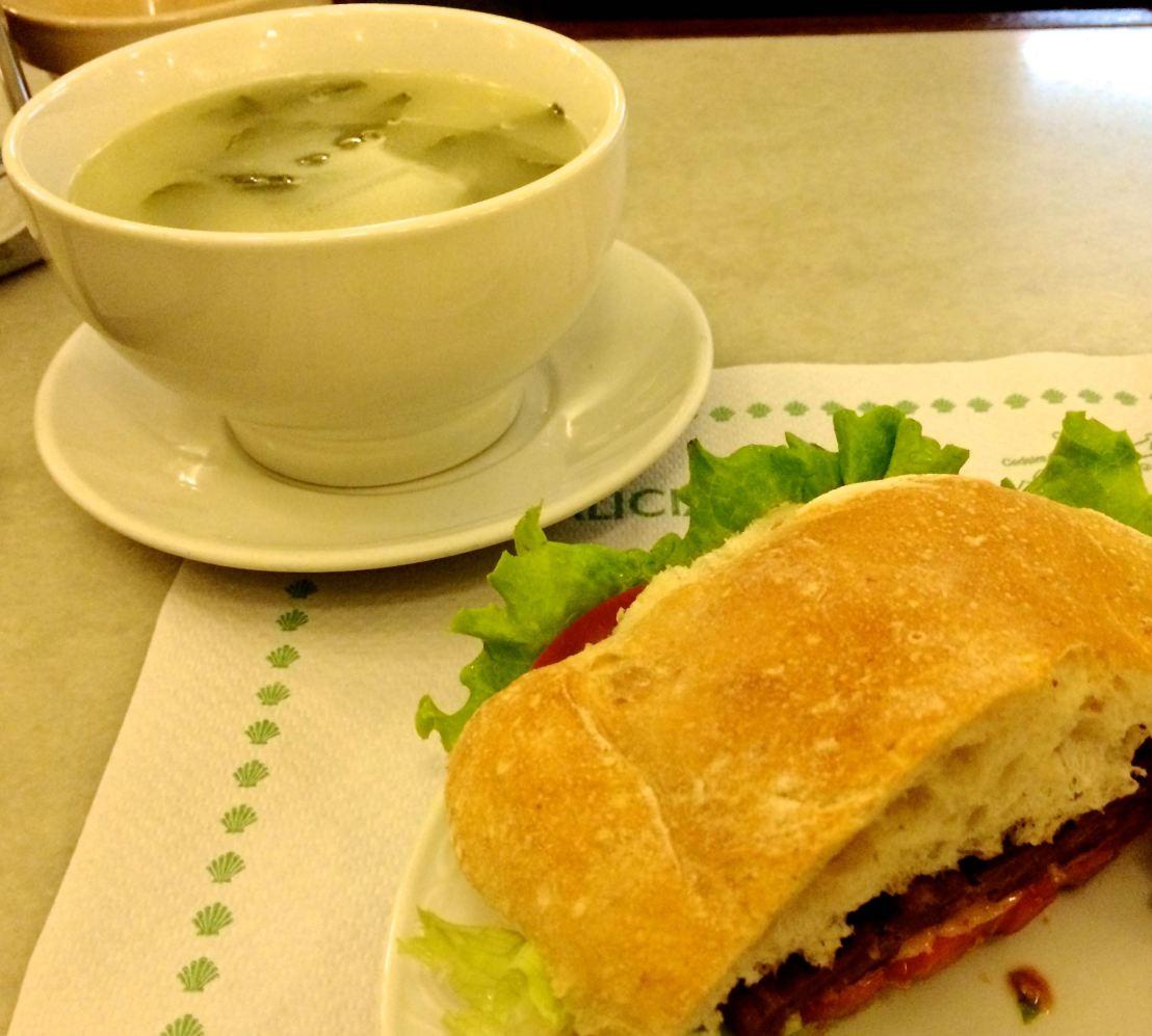 Caldo Gallega and Spanish Hamburger