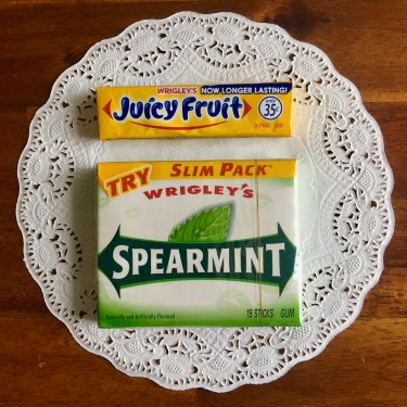 Chicago Columbian Exposition Fair Foods: Wrigley flavors Juicy Fruit and Spearmint were introduced. (Doublemint was already known.)
