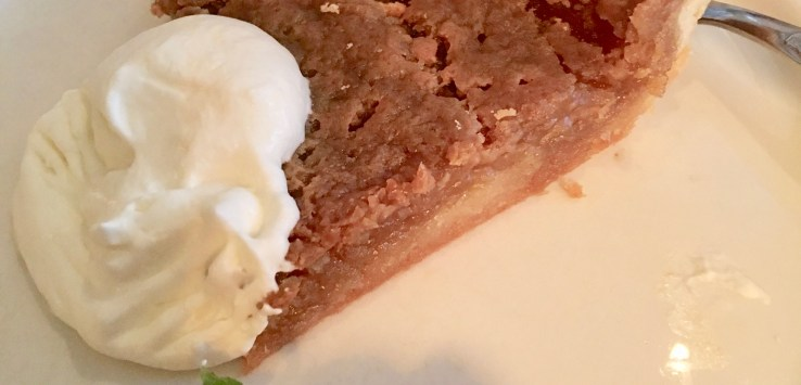 Quebec City: Do NOT leave town without having a slice of heaven, called Maple Syrup pie! (Photo by Suzanne Ball. All rights reserved.)