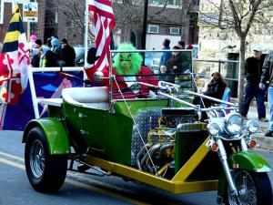 The City at Christmas: In Baltimore, the Grinch gets his own ride at the Mayor's Annual Christmas Parade! (Photo by ktylerconk/Flickr)