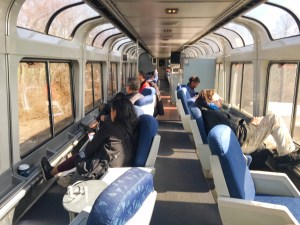 The observation car was our favorite part of the Amtrak trip.
