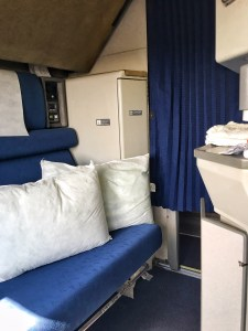 Although Amtrak provides printed directions to getting the beds ready, the attendant can help...maybe...