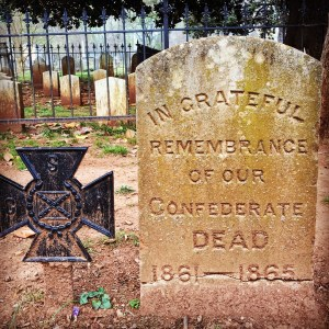 Huntsville, Alabama, has a public cemetery with graves of Civil War soldiers, both Union and Confederate. (Photo by Suzanne Ball. All rights reserved.)