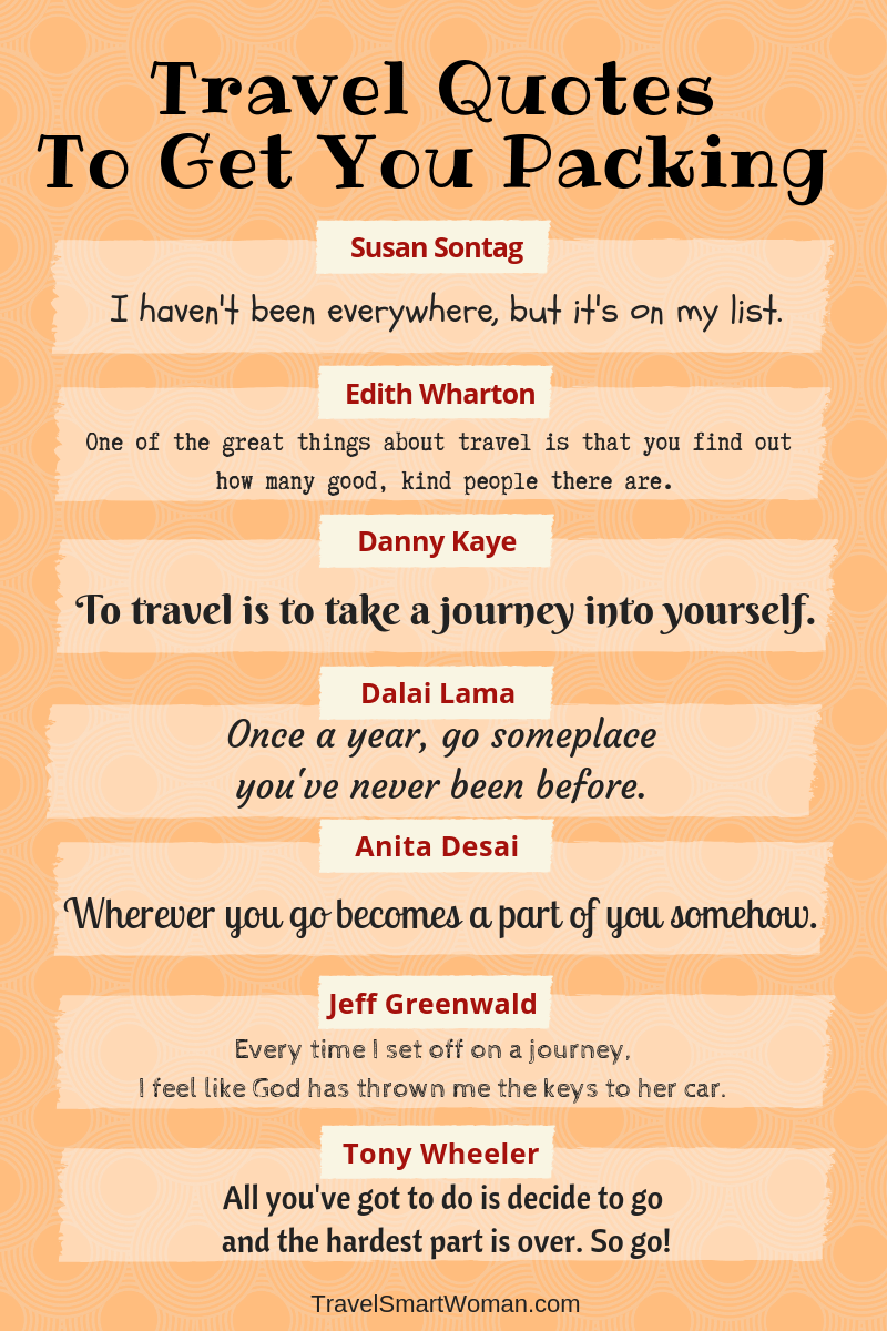 Travel quotes to get you packing!