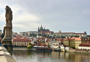 View of Prague Castle from Charles Bridge
