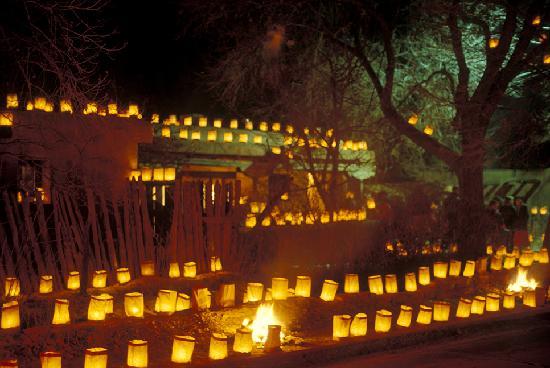 Luminarias--called farolitos in Santa Fe--are a beautiful part of Christmas celebrations.