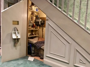 You'll see Harry's room under the stairs while in queue to enter the stage set.
