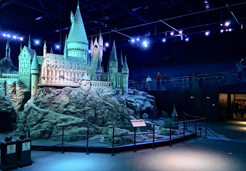 The Hogwarts Castle model includes landscaping and real plants! (Harry Potter in London)