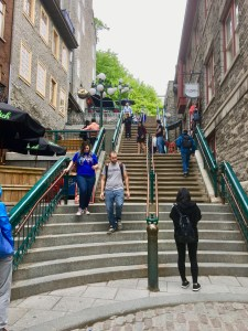 To get to Upper Town, take the Breakneck Stairs!
