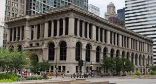 The Chicago Cultural Center takes up a full block on Michigan Avenue!