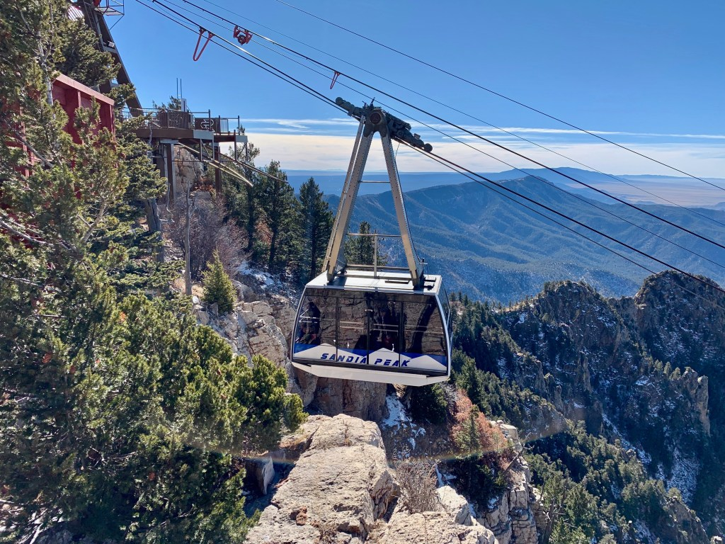 Sandia Peak Tram was a challenge to build.