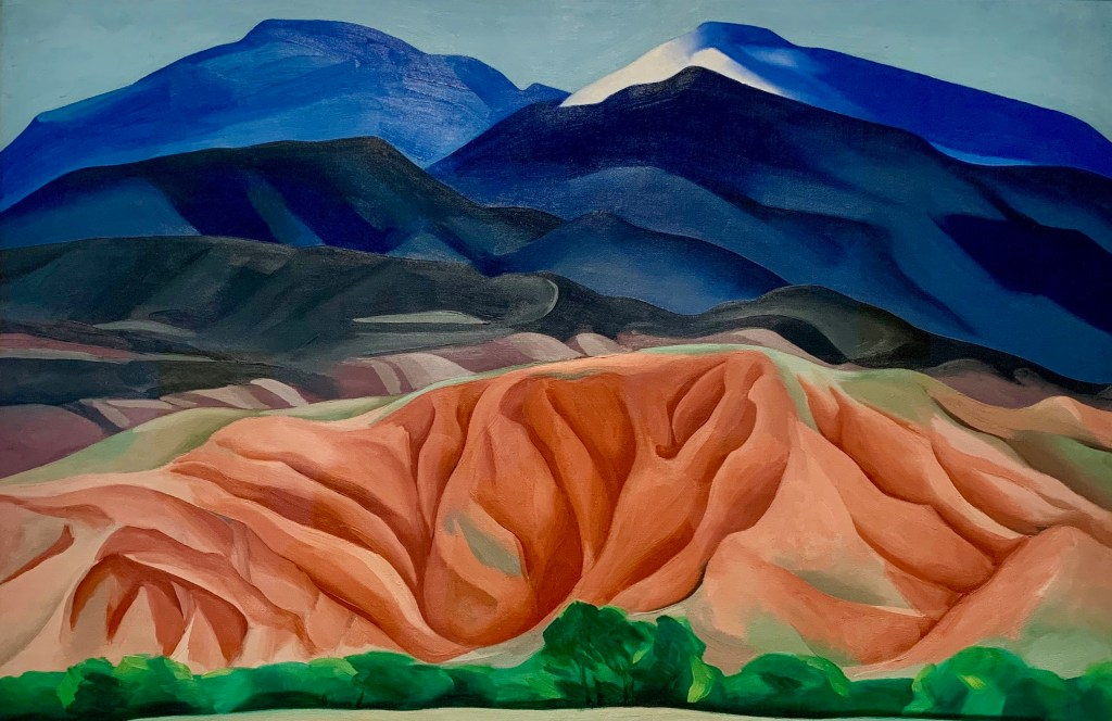 Georgia O'Keeffe Museum has the painting that was featured on a US Postage stamp in 2013.