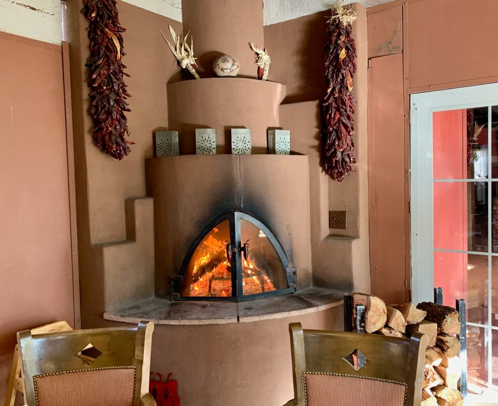 Each dining room at El Pinto has a real wood-burning fireplace. As if you needed more good reasons to go to Albuquerque!