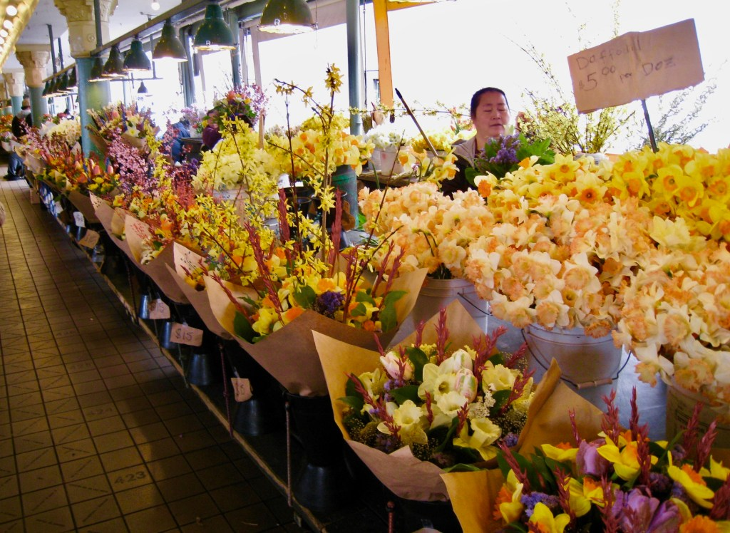 Flower Vendor at sSeattle Pike Place Market