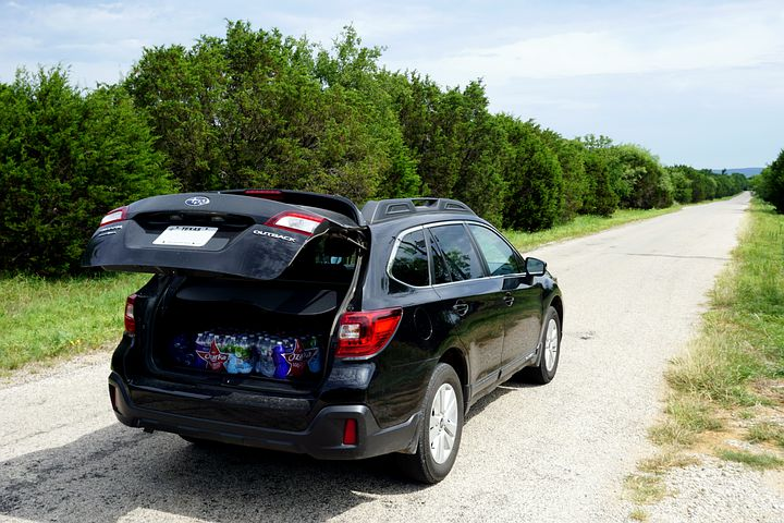 Car with trunk open--get ready for your road trip for one!