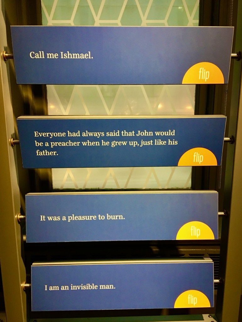 American Writers Museum celebrates words--of all kinds-First lines of masterpieces