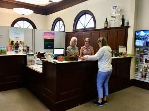 Sonoma Plaza Visitors Bureau is in an original Carnegie Library.