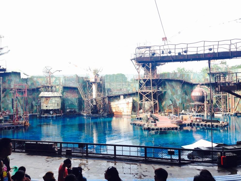 Inside the 'Waterworld' compound