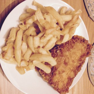 My favourite meal of fish and chips from The Nook in Cosby, Leicestershire