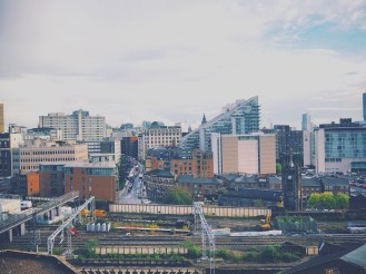 View of one of my favourite cities in the entire world, Manchester