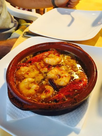 Gambas con ajo - one of my favourites
