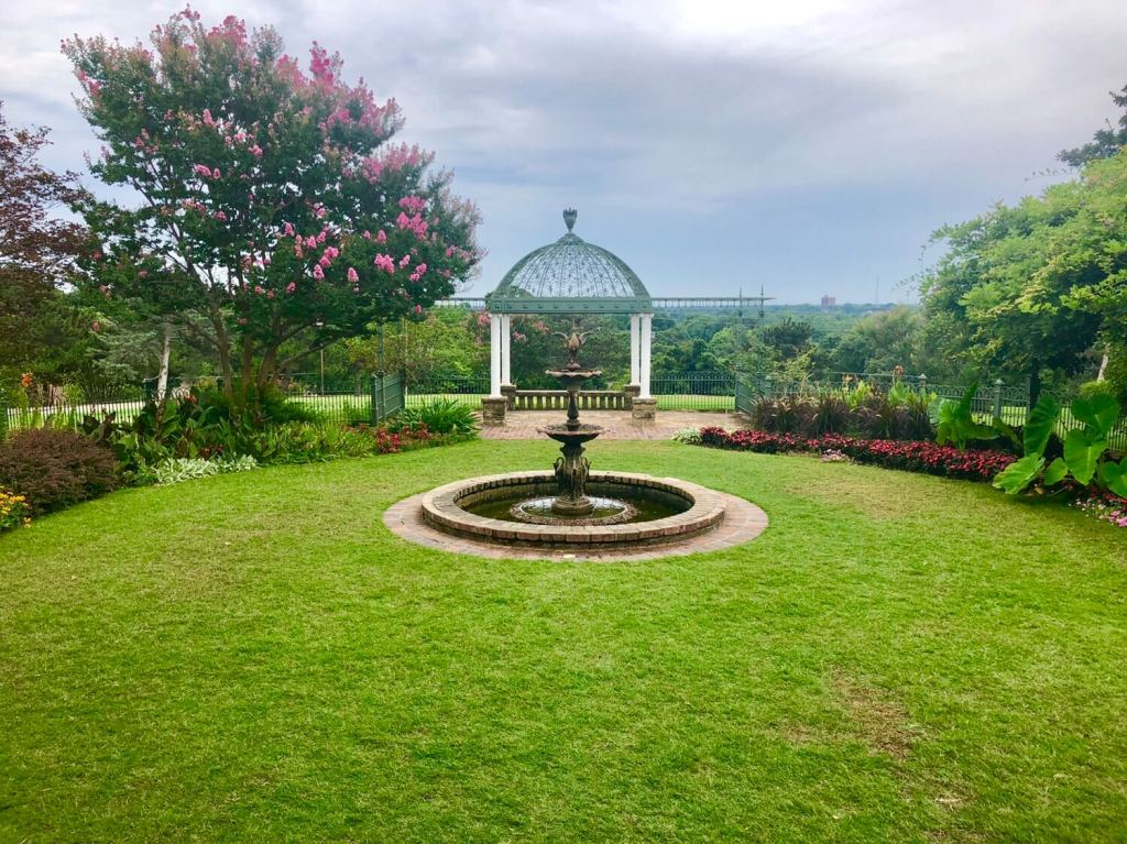 Gilcrease Museum garden fountain