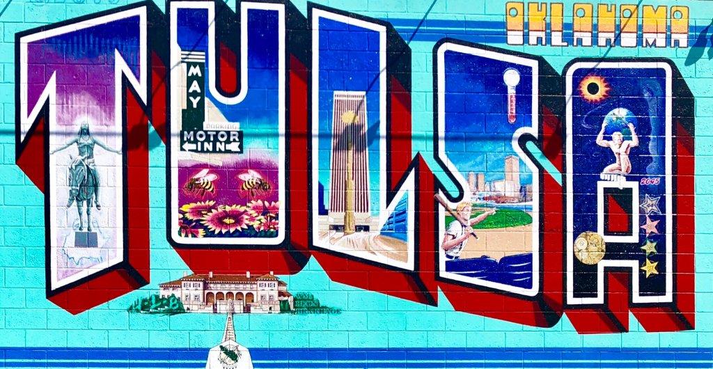 Tulsa Murals. Tulsa Postcard Mural