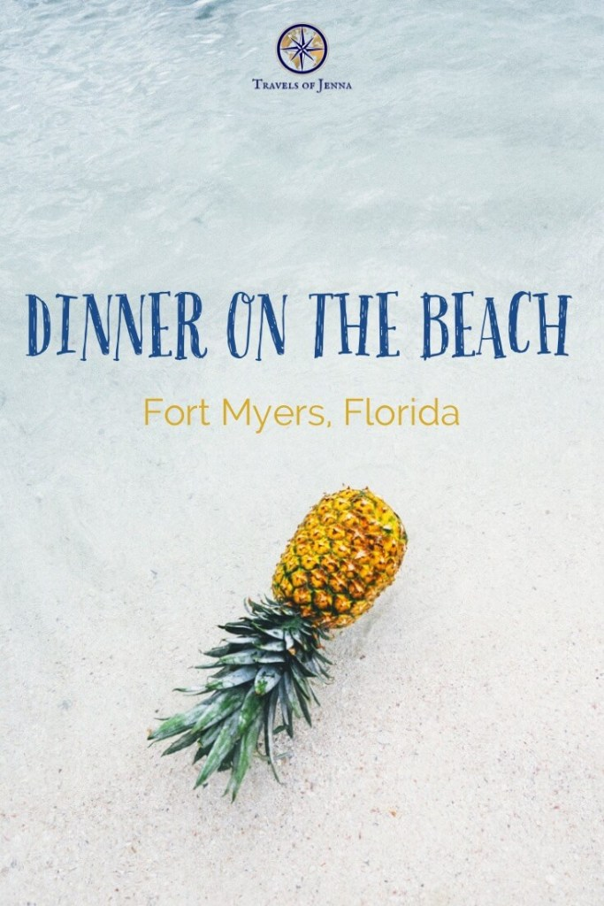 Experience dinner on the beach in Fort Myers, Florida! #dinneronthebeach #fortmyers #floridabeaches #beachside #beachvacations