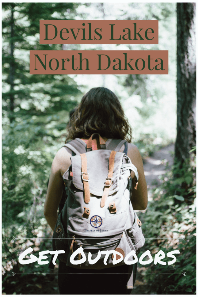Devils Lake Hiking. Trails in North Dakota.