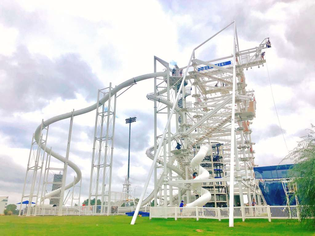 Sandridge Sky Trail at Riversport Adventures OKC. Fun things to do in OKC with kids.