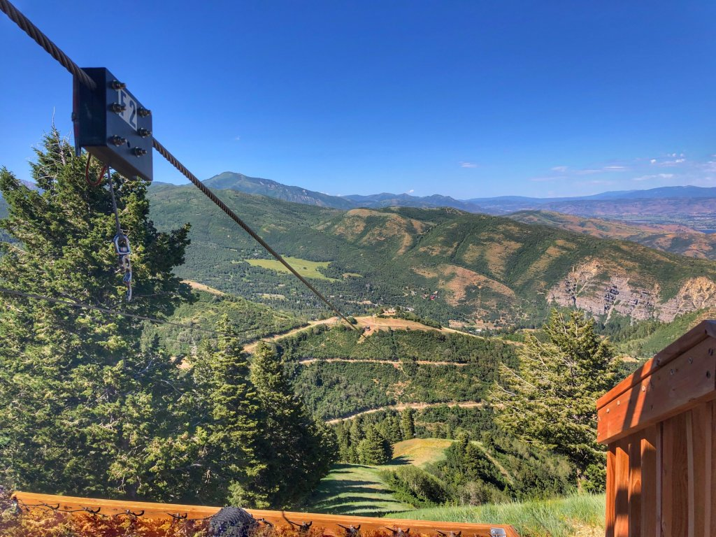 Sundance Zipline, scenic Ziptour in Utah. View from the platform